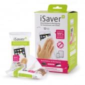 iSaver+ Desinfektions- und Reinigungstücher, Displaykarton mit 24 Spenderpackungen